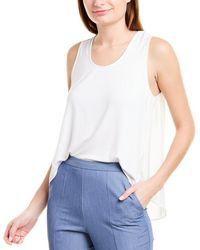 BCBGMAXAZRIA Mixed Media T-shirt - White