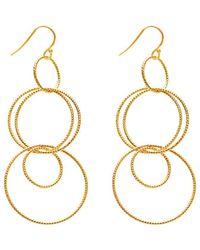 Gabi Rielle - 22k Over Silver Multi-hoop Earrings - Lyst