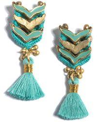 Shiraleah Enamel Belen Earrings - Green