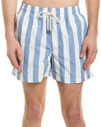 Solid & Striped Swim Shirt - Blue