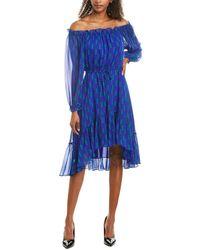 Diane von Furstenberg Camilla Silk Dress - Blue