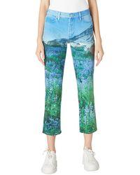 Hudson Jeans Barbara Mountain Blue Flow High-rise Crop Straight Leg Jean
