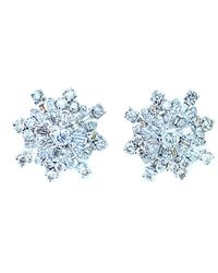 Arthur Marder Fine Jewelry 14k & Silver 3.60 Ct. Tw. Diamond Earrings - Blue