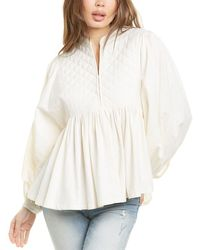 Closed Helen Top - White