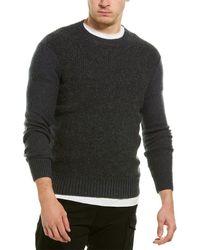 AllSaints Allsaints Drammen Wool-blend Crewneck Sweater - Gray