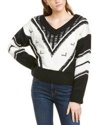Line & Dot Helena Wool-blend Jumper - Black