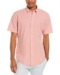 Brooks Brothers Seersucker Regent Fit Woven Shirt - Orange