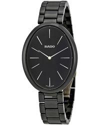 Rado Esenza Black Dial Ladies Ceramic Watch