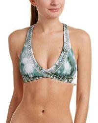 Lucky Brand Indian Faux Wrap Bikini Top - Green