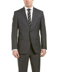 Kenneth Cole Wool Suit With Flat Front Pant