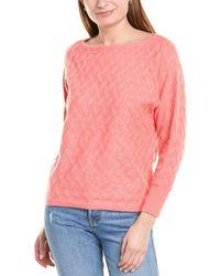 Vince Camuto Basket Stitch Sweater - Orange