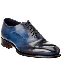 Santoni Leather Oxford - Blue
