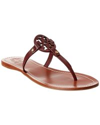 Tory Burch Gabriel Leather Thong - Red