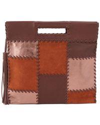 Hobo - Dakota Leather Patchwork Clutch - Lyst