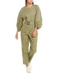 Jonathan Simkhai Annika Puff Sleeve Jumpsuit - Green