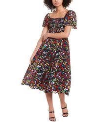 Tanya Taylor Glenda Silk Midi Dress - Multicolour