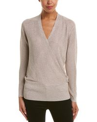 Reiss Lee Metallic Sweater - Natural