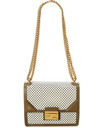 Fendi - Kan U Small Leather Shoulder Bag - Lyst