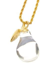 Kenneth Jay Lane Plated Necklace - Metallic