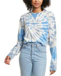 Pam & Gela Slouchy Crop Shirt - Blue