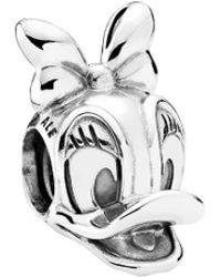 PANDORA Disney Silver Daisy Duck Charm - Metallic