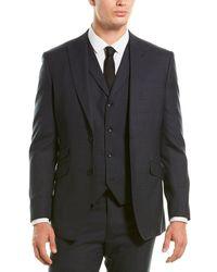 English Laundry 3pc Wool Suit - Blue