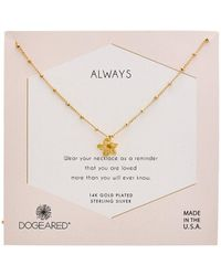 Dogeared Reminder Collection 14k Over Silver Necklace - Metallic