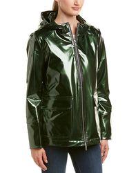 Jane Post - Shine Waterproof Slicker - Green - Lyst