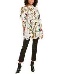 Gucci Ruffle Trim Silk Shirt - Multicolour