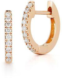 Nephora 14k Diamond Huggie Earrings - Metallic