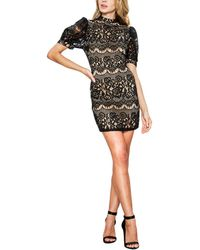 a. calin Mock Neck Mini Dress - Black