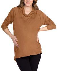 Lamade Cowl Neck Top - Brown