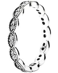 PANDORA Alluring Brilliant Marquise Stackable Ring - Metallic