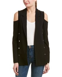 Romeo and Juliet Couture Cold-shoulder Blazer - Black