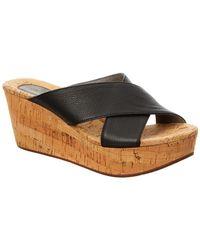 Chocolat Blu - Wish Leather Wedge Sandal - Lyst