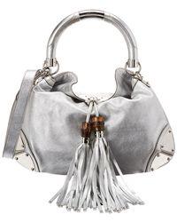 Gucci Silver Gg Imprime Tote in Metallic - Lyst 118546c0aa074