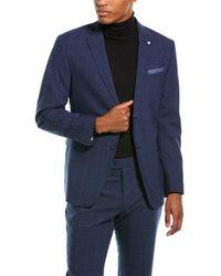 Original Penguin 2pc Wool-blend Suit - Blue