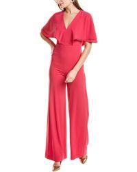 Halston Flowy Sleeve Jumpsuit - Pink
