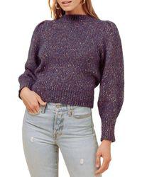 Astr Clara Sweater - Purple