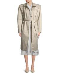 Balenciaga - Bold Shoulder Trench Coat - Lyst