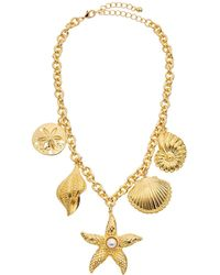 Kenneth Jay Lane 22k Plated Charm Necklace - Metallic