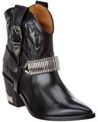 Toga Leather Boot - Black