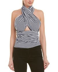 MDS Stripes Everything Scarf Top - Blue