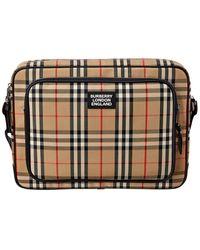 Burberry Marlon Vintage Check & Leather Messenger Bag - Multicolour