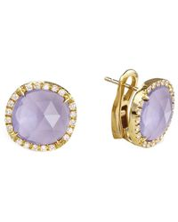 Marco Bicego Jaipur 18k 0.30 Ct. Tw. Diamond & Amethyst Studs - Multicolor