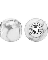 PANDORA Essence Collection Silver Positivity Charm - Metallic