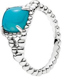 PANDORA - Blue Vibrant Spirit Ring - Lyst