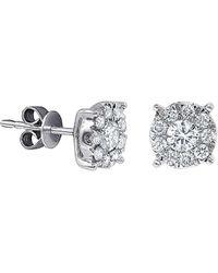 Diana M. Jewels - . Fine Jewelry 14k 0.20 Ct. Tw. Diamond Studs - Lyst