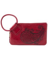 Hobo Sable Leather Wristlet - Red