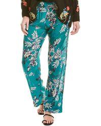Johnny Was Silk Pyjama Pant - Blue